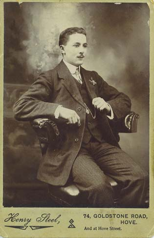 ABOVE A Carte De Visite Portrait Of Member The Steel Family Photographed By Henry Goldstone Road And Hove Street Around 1910