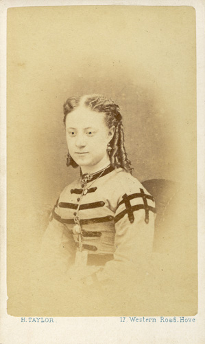A Carte De Visite Portrait Photographed By Harry Taylor Of 17 Western Road Hove