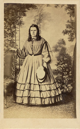 ABOVE A Full Length Portrait Of Young Woman Photographed Around 1862 At The Carte De Visite Company Studio 213 Western Road Brighton