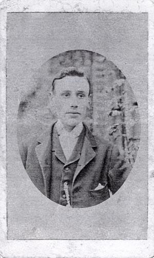 ABOVE A Carte De Visite Portrait Of Young Man Photographed By John Joseph Wright Maresfield C1882 The Photographer J