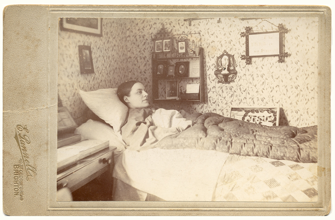 ABOVE] Portrait of an unknown woman in her sickbed, photographed at ...