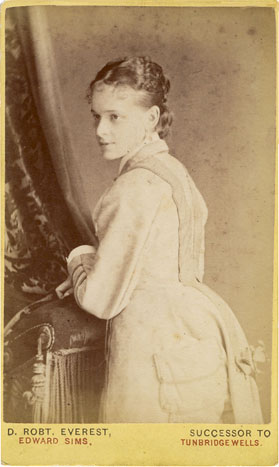 ABOVE A Carte De Visite Portrait Of Young Woman Photographed By David Robert Everest In Tunbridge Wells Has Overprinted His Trade Plate On