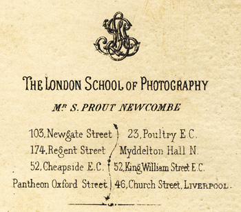 ABOVE The Trade Plate Of London School Photography