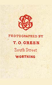 ABOVE Worthing Seafront A Topographical Carte De Visite By Thomas Oliver Green Of South Street C1870